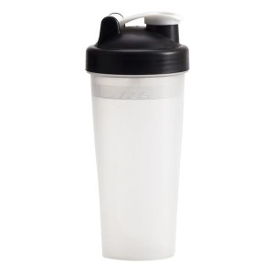 Shaker Muscle Up 600 ml, czarny/transparentny